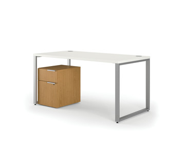 Voi Table Desk with Mobile Pedestal