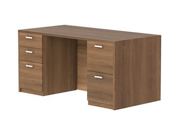 Amber Double Pedestal Desk in Walnut