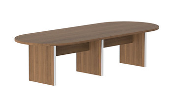 Amber Expandable Conference Table, 10 ft, in Walnut