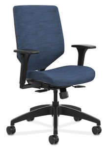 Hon Solve Reactiv Upholstered Back Chair in Midnight (COMP90) Upholstery