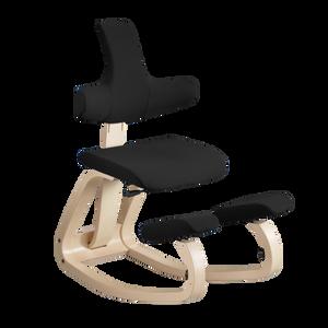 Varier Thatsit balans Chair in Natural Frame Black Revive Fabric