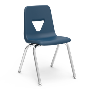 "2000 Series Student Stacker, 18"" in navy"