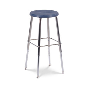 120 Series Stool with polypropylene seat in navy