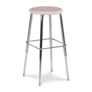 121 Series Height Adjustable Stool with Martest 21 hard plastic seat in Sandstone