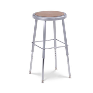 122 Series Height Adjustable Stool with formed steel seat with a Masonite inset