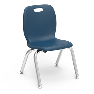 "N2 Series Student Stacker, 12"" blue"