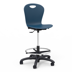 Zuma Series Student Lab Stool in Navy