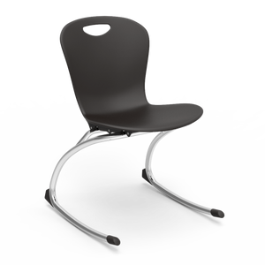 Zuma Series Student Rocking Chair in black