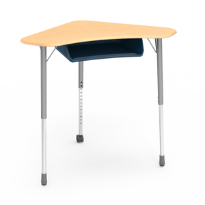 Zuma Series ZBOOM Triangular Student Desk with book box