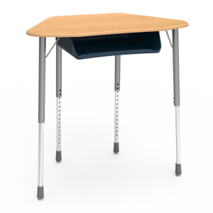 Zuma Series Trapezoid Student Desk with optional book box