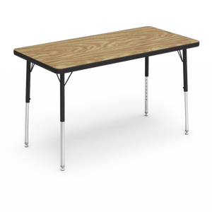 "4000 Series Activity Table, standard height in Medium Oak laminate 24"" x 48"""