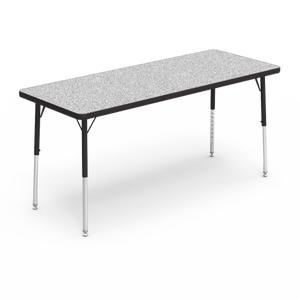 "4000 Series Activity Table, standard height in Grey Nebula laminate 24"" x 60"""