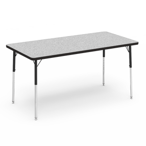 "4000 Series Activity Table, standard height in Grey Nebula laminate 30"" x 60"""