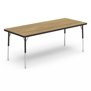 "4000 Series Activity Table, standard height in Medium Oak laminate 30"" x 72"""