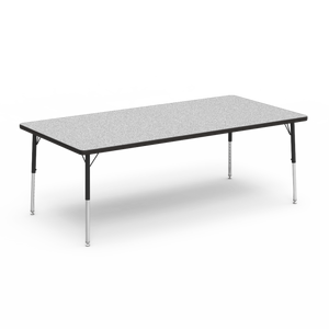"4000 Series Activity Table, short height in Grey Nebula laminate 36"" x 72"""