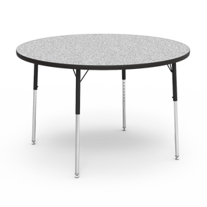 "4000 Series Activity Table, standard height in Grey Nebula laminate 48"" Round"