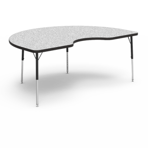 "4000 Series Activity Table, standard height in Grey Nebula laminate 48"" x 72"" Kidney"