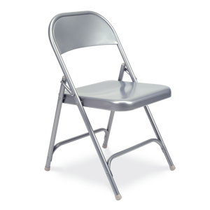 Steel Frame Folding Chair in silver