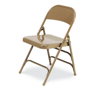 Steel Frame Folding Chair with 2 Back Braces