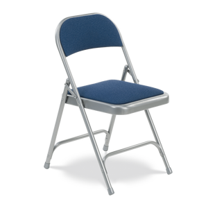 Steel Frame Folding Chair with silver frame and Sedona Sailor Fabric