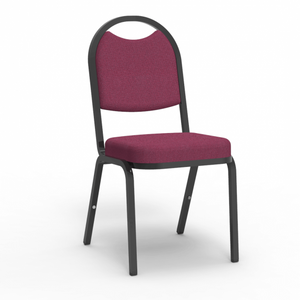 8900 Series Round Back Stacking Upholstered in Sedona Ruby fabric
