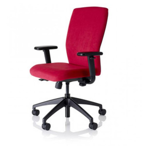 Knoll EWC Pro™ Fully Upholstered shown in Presto Scarlett with standard black base
