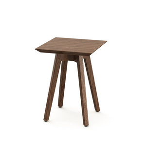 KnollStudio Jens Risom Square Side Table with Light Walnut top and base