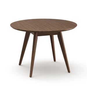 KnollStudio Jens Risom Round Dining Table with Light Walnut top and base