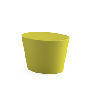 KnollStudio Maya Lin Stones Child Seat in Chartreuse Polyethylene