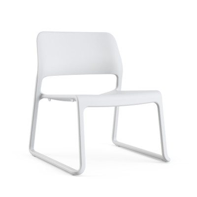 Knoll Spark Stacking Lounge Chair Quickship Light Grey