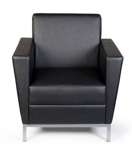 Venus Regular Profile Armchair in Onyx Vinyl
