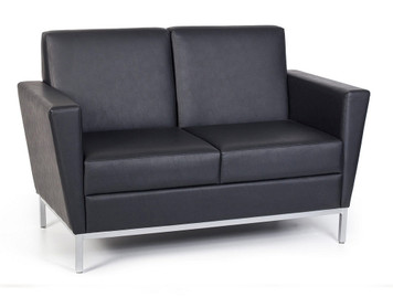 Venus Regular Profile Loveseat in Canter Vinyl Onyx