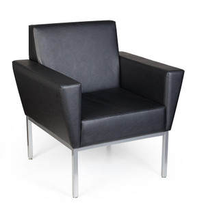 Venus Slim Profile Armchair in Canter Vinyl Onyx