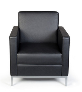 Mars Regular Profile Armchair in Onyx Vinyl