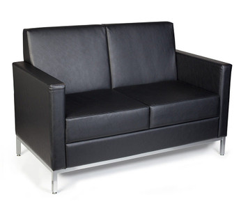 Mars Regular Profile Loveseat in Canter Vinyl Onyx