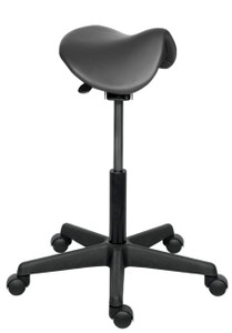 Sit Stand Stool with Saddle Seat