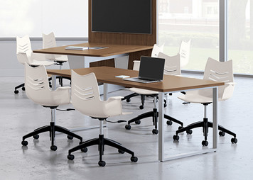 Essay Taskers in White with casters