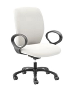 Fuel Mid Back Large and Tall, upholstered back with Static Loop Arms