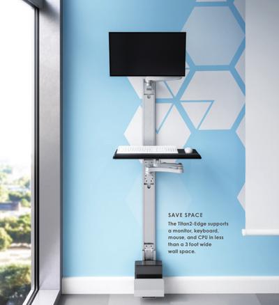 Esi Titan 2 Edge Dual Track Wall Workstation Officechairsusa