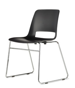 Jiva Stacking Chair Black with sled base