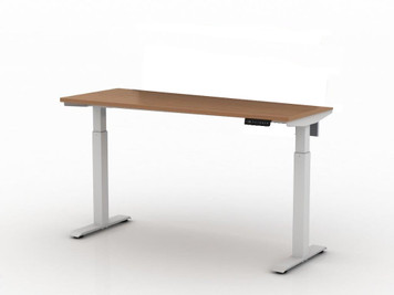 "AMQ Activ-PRO Sit-Stand Electric Table Desk with 2 Stage Legs, 22"" Feet"