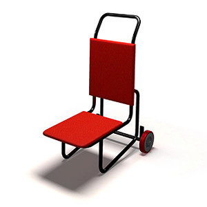 One Piece Stacking Event Chair Lift