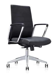 Ardi Conference Chair in black ecoleather