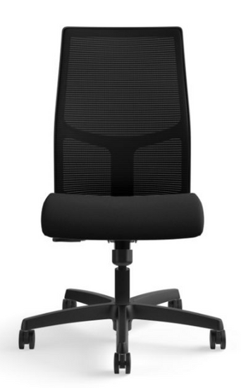 Ignition Mesh Mid-Back Task Chair in Centurion Black seat with black mesh and base