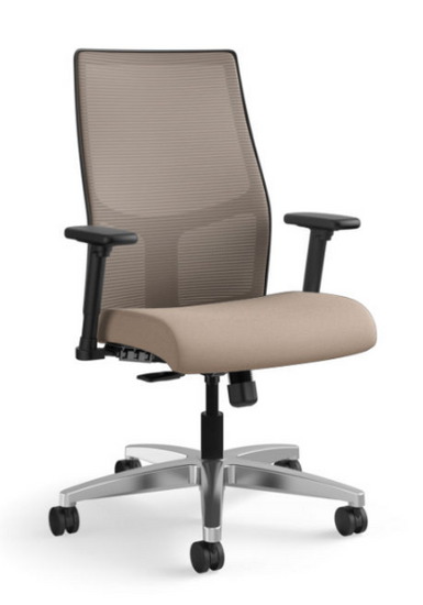 Ignition Mesh Mid-Back Task Chair in Centurion Morel seat with Chai mesh and aluminum base