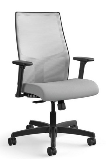 Ignition Mesh Mid-Back Task Chair in Centurion Frost seat with Fog mesh and black base