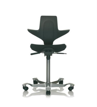 hag capisco quickship puls saddle chair with upholstered seat in black - Saddle Chair