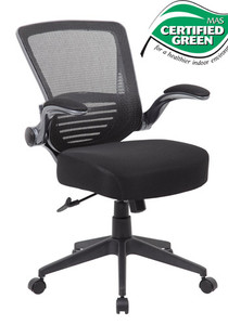 Contemporary Mesh Back Task Chair with Flip Arm