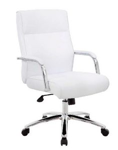 CaressoftPlus Conference Chair with Lumbar White