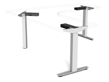 Symmetry Voyager 2 Stage - 3 Leg Electric Sit-Stand Table WITHOUT Tabletop